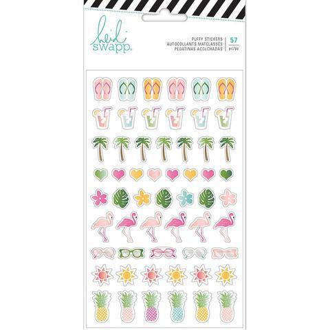 Стикеры обьемные Heidi Swapp Pineapple Crush Puffy Stickers- 57шт.