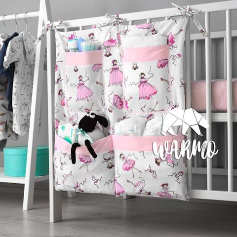 органайзер на ліжечко з рожевими балеринами фото