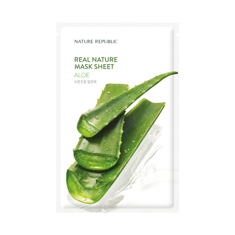 NATURE REPUBLIC Тканевая маска для лица с экстрактом алоэ Real Nature Mask Sheet Aloe