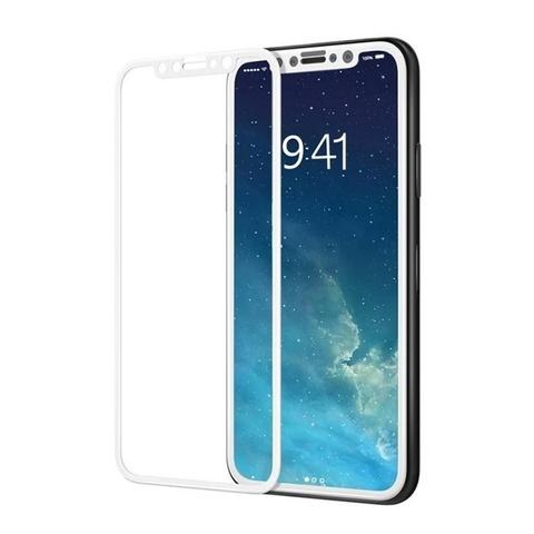 Стекло защитное 2D для IPhone X (Белое)