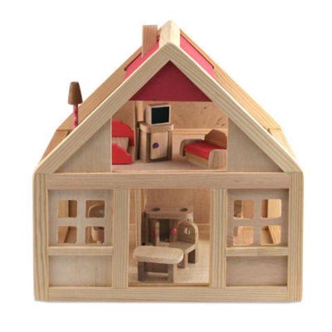 Кукольный дом с набором мебели