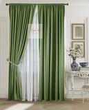 Комплект штор Луи (темно-зеленый). Шторы из стриженного бархата.