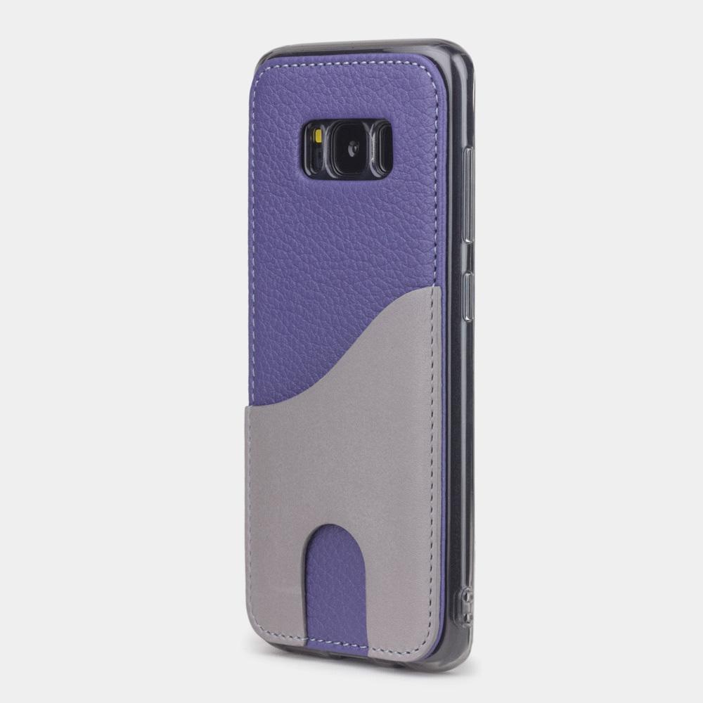 Чехол-накладка Andre для Samsung S8 из натуральной кожи теленка, цвета сирени