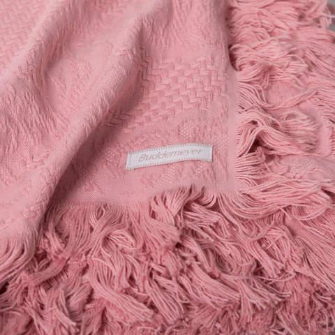 Плед вязаный хлопковый  Medalhao розовый 3038  Buddemeyer Бразилия