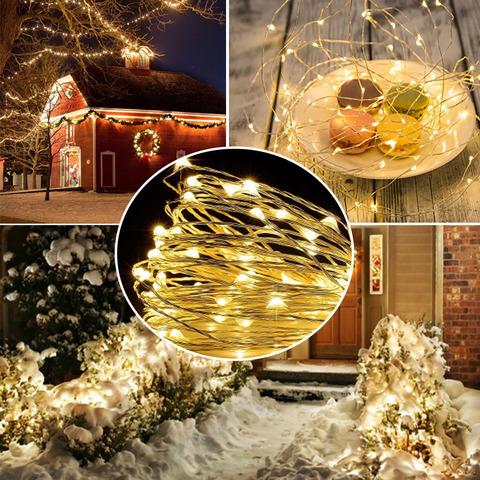 новогодняя LED_Светодиодные_гирлянды_на_тонкой_проволоке