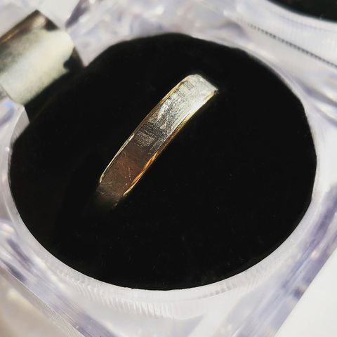 Обручальные кольца с метеоритом Муонионалуста