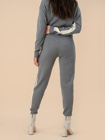 Женские брюки серого цвета из 100% шерсти - фото 4
