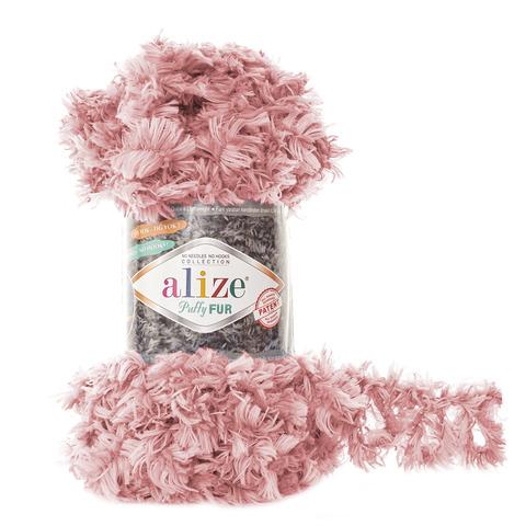 Купить Пряжа Alize Puffy Fur Цвет 6102 Персиковый | Интернет-магазин пряжи «Пряха»