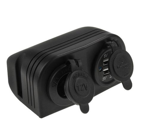 Разъем USB 5 В, 3.1 А и прикуриватель для крепления на приборную панель