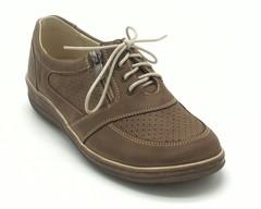 Полуботинки коричневые на шнуровке