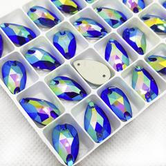 Купите стразы пришивные Drope Sapphire AB, Капля синие для фигурного катания