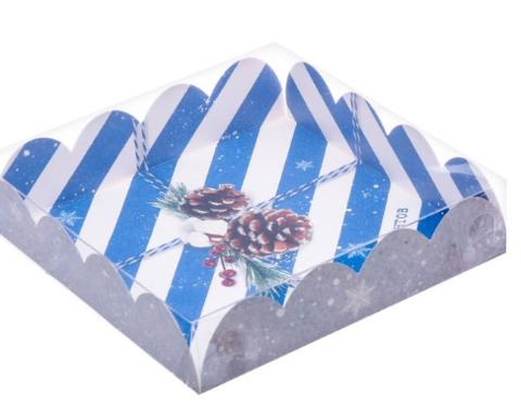 060-0123 Коробка для кондитерских изделий с PVC-крышкой «Приятных моментов», 13 × 13 × 3 см