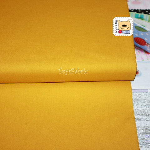 Ткань для пэчворка 20661 (однотонный горчичный) 45х55см