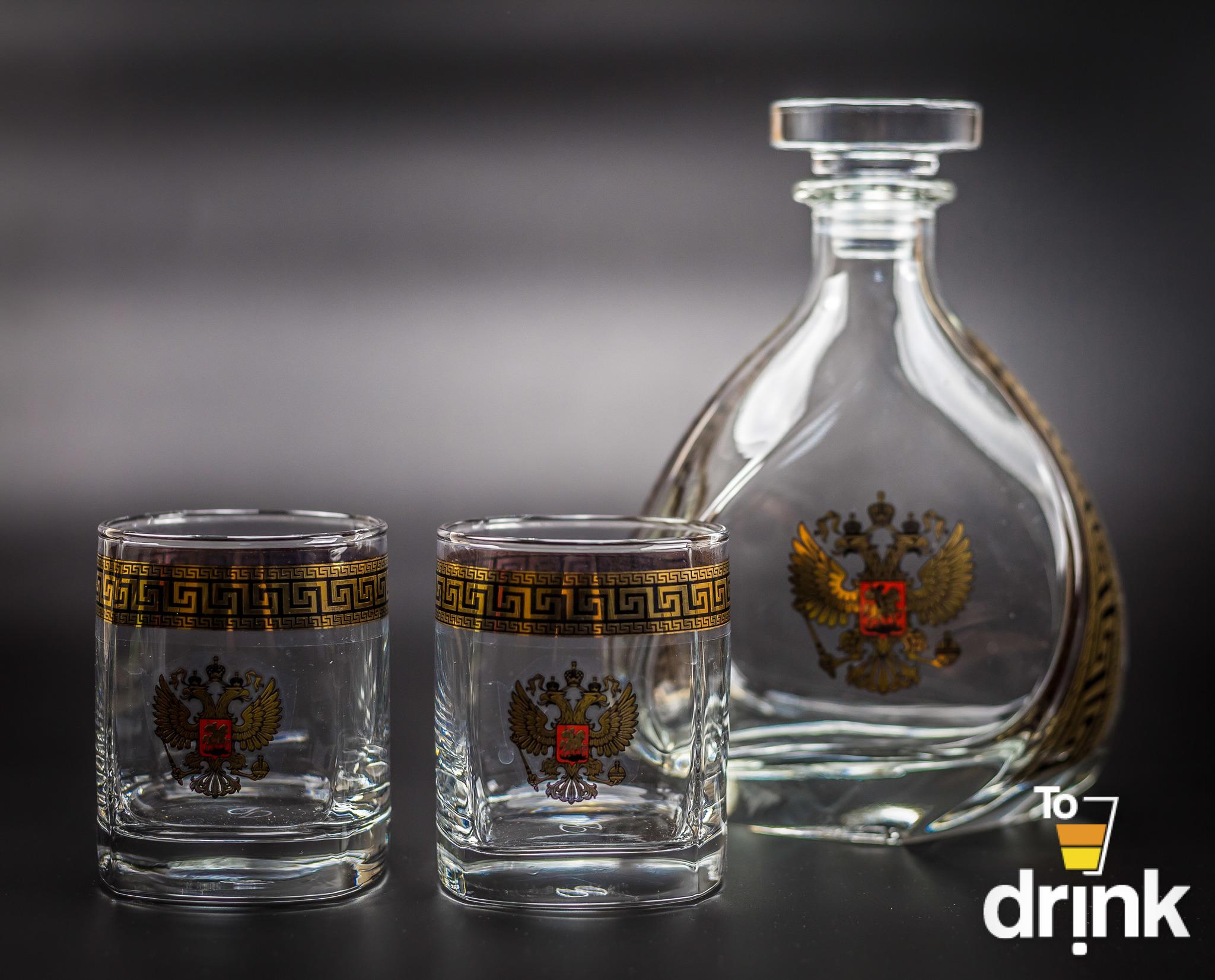 Подарочный набор «Отчизна»: штоф 800 мл, 2 стакана 275 мл штоф rcr bubble 800 мл