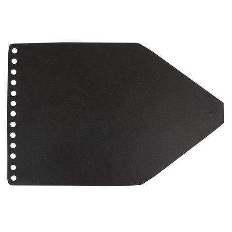 Клапан для рюкзачка кожаный черный