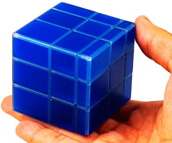 Luminous mirror cube