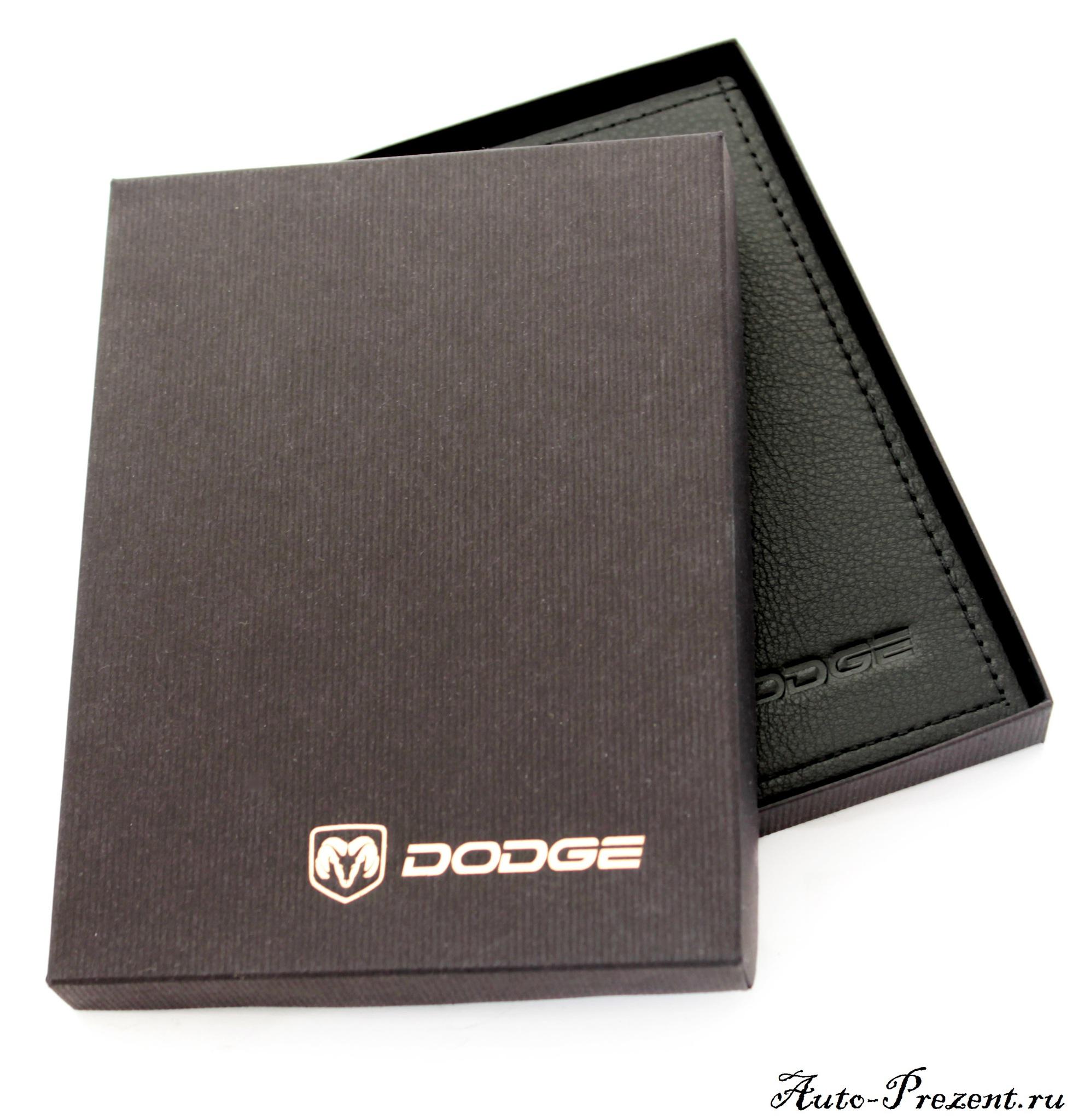 Портмоне для автодокументов из натуральной кожи с логотипом DODGE