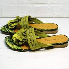 Шлепанцы сандали женские Marco Tozzi 2-27104-20 Green.