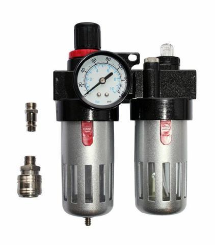 Регулятор давления QUATTRO ELEMENTI MF-3, с лубрикатором и фильтром, разъем EURO (771-053)