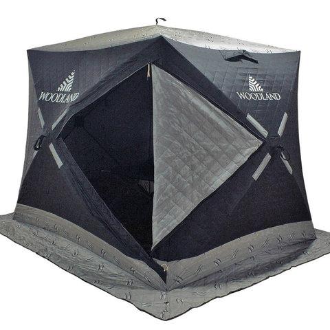 Зимняя палатка куб Woodland Ultra Long (трехслойная)
