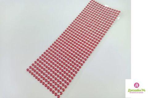 Стикеры для творчества 6 мм, цвет Красный, стекло.