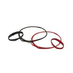 Ожерелье PHITEN EXTREME TWIST (черно-красный)