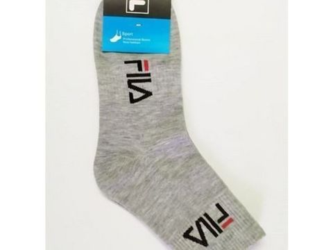 Мужские носки Fila длинные светло-серые 1 шт.