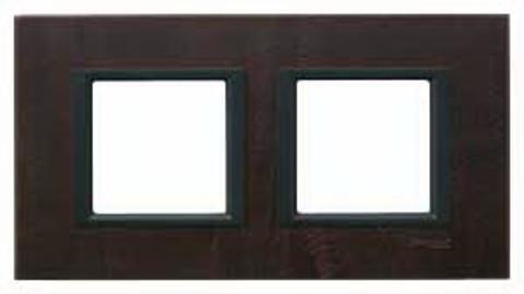 Рамка на 2 поста. Цвет Тёмная кожа. Schneider electric Unica Class. MGU68.004.7P2