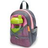 Рюкзак со страховочным поводком серый/розовый