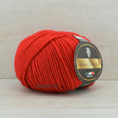 Пряжа Merino Extra 145 (Мерино экстра 145) Красный