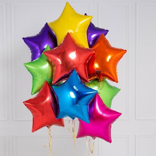 """Композиции Букет фольгированных звезд """"Микс"""" rainbow_bright_stars_3.jpg"""