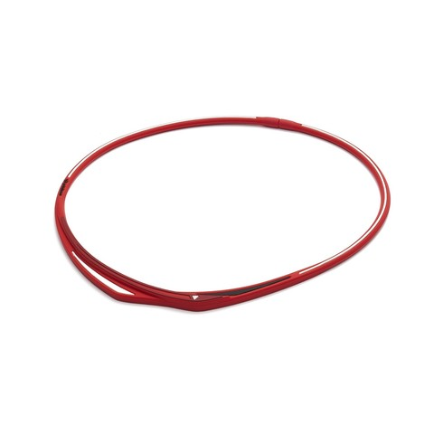 Ожерелье PHITEN EXTREME TWIST (красно-белый)