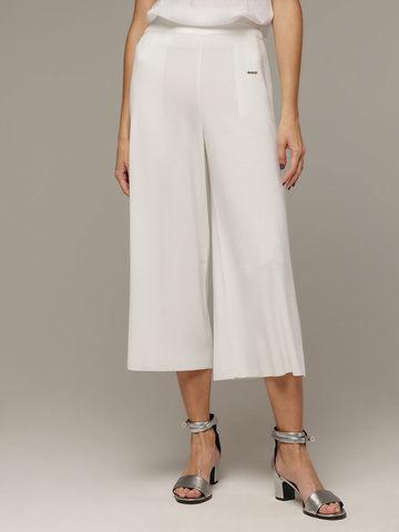 Женские белые свободные брюки из вискозы - фото 3