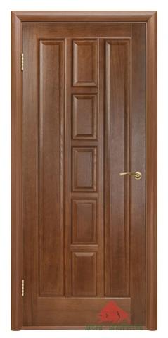 Дверь Квадро ПГ 40,60, 70, 80, 90(каштан)  (каштан, глухая шпонированная), фабрика Двери Белоруссии