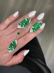 Колье из серебра с зелеными цирконами GIARDINI