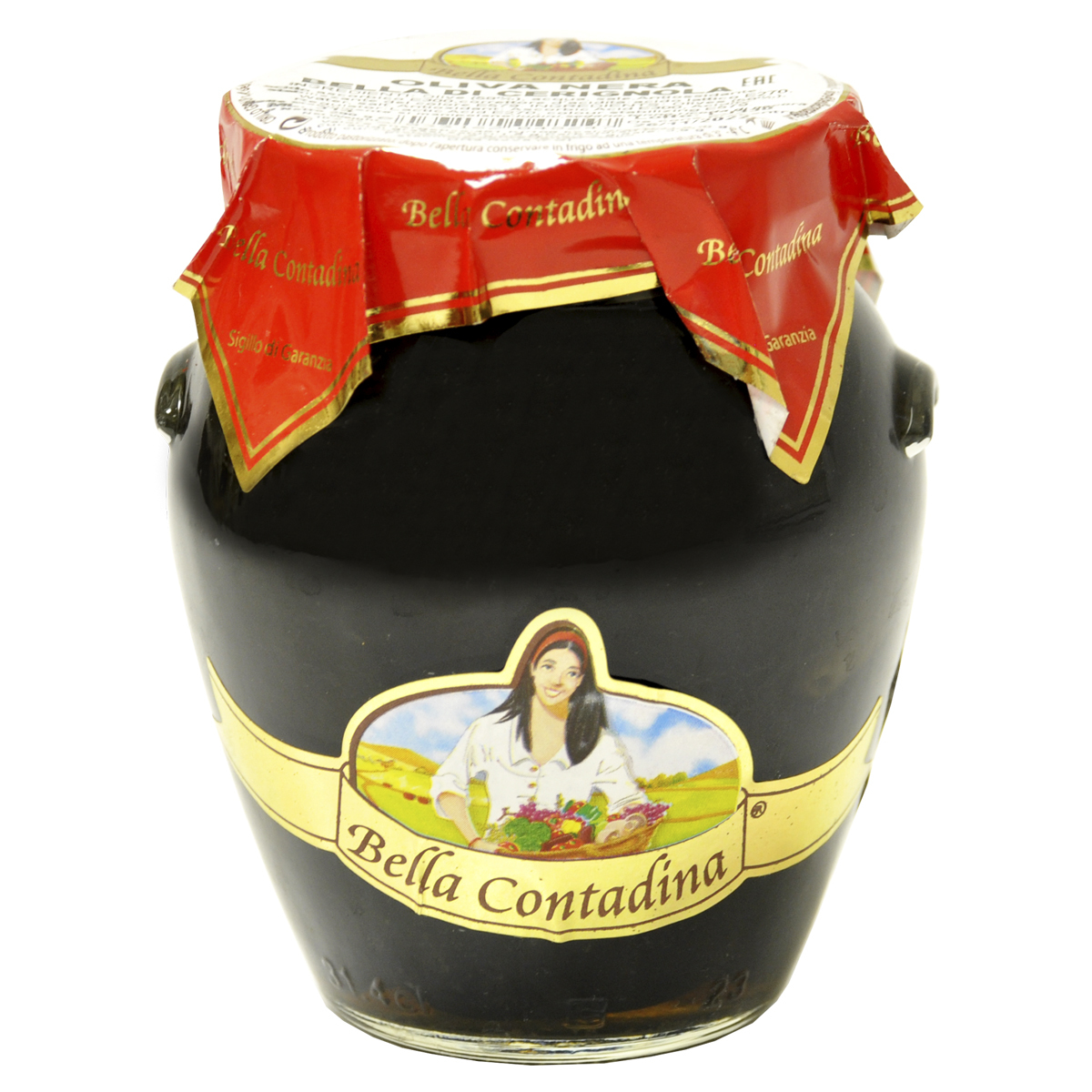Маслины Bella Contadina гиганские с косточкой, амфора 290г