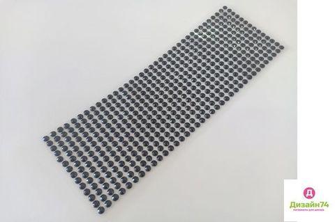 Стикеры для творчества 6 мм, цвет Чёрный, стекло.