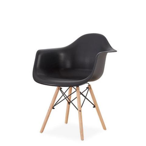 Стул-кресло DAW Eames by Vitra (черный)