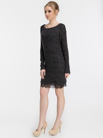 Платье-двойка. Трикотажное платье и платье-майка из шелка, черное 1