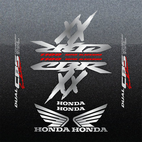Набор виниловых наклеек на мотоцикл HONDA CBR 1100XX 1998