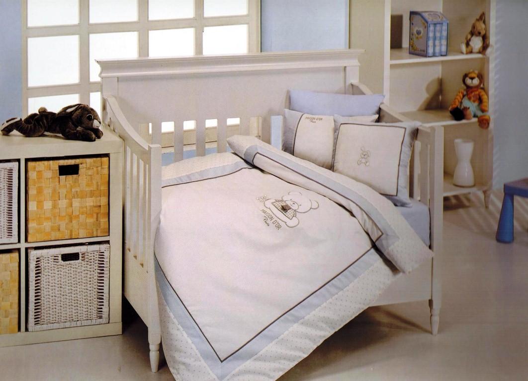 Постельное белье  в детскую кроватку Постельное белье  в кроватку для мальчика DEAR PANDA- ДИР ПАНДА / Maison Dor (Турция) Dear_Panda_nevresim.jpg