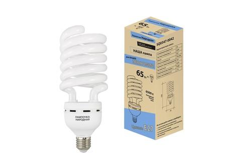 Лампа люминесцентная НЛ-HS-65 Вт-6500 К–Е27