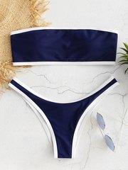купальник раздельный бандо синий спортивный sport dark blue 1