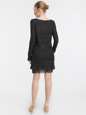 Платье-двойка. Трикотажное платье и платье-майка из шелка, черное 2