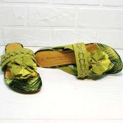 Модные босоножки шлепанцы женские Marco Tozzi 2-27104-20 Green.