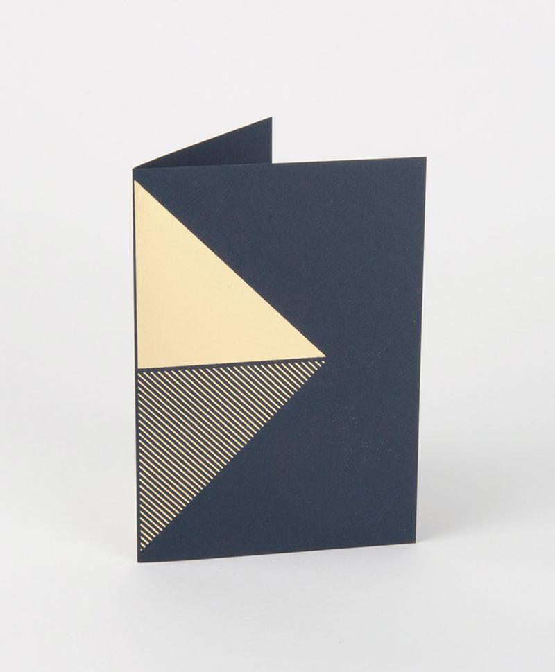 Открытка Reflex Card Brass & Navy