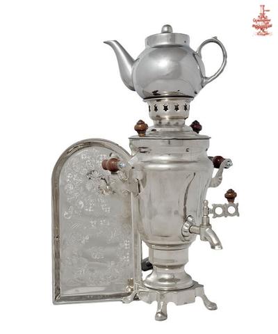 Самовар Тюльпан 1,5л никель электрический в наборе