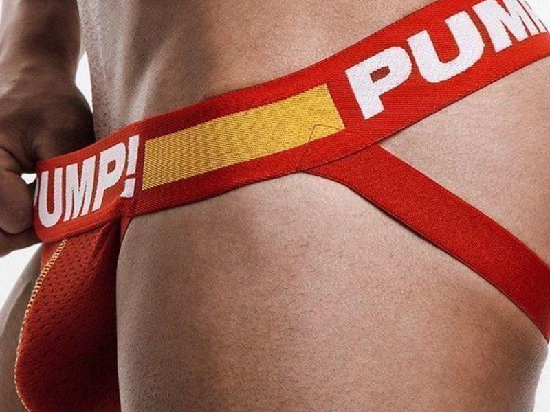 Мужские трусы джоки красные Pump Red Jock 115