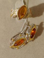 Клайда (кольцо + серьги из серебра)