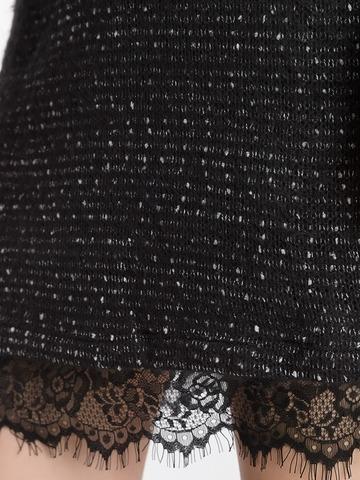 Платье-двойка. Трикотажное платье и платье-майка из шелка, черное 3